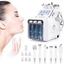 6 in1 H2-O2 hidro dermabrasion rf bio-levantamento spa facial ance pore cleaner hidro microdermabrasion máquina cuidados com a pele ferramentas