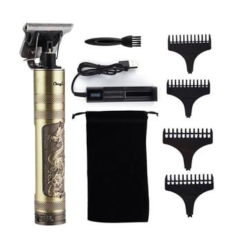 T9  hair trimmer Barber Haircut Rechargeable hair Clipper Cordless Men Hair Cutting Machine Beard trimmer 0mm razor shaver