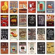 Ретро пищевых продуктов/Кофе металла Оловянная табличка железа
