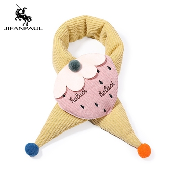 JIFANPAUL 2020 autumn and winter new childrens scarf for boys girls to keep warm in cute cartoon