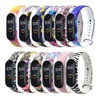 Braccialetti stampati colorati per Xiaomi Mi Band 4 3 Sport Smart Bracelet Watch cinturino da polso in Silicone per Miband 4 3 cinturino da polso