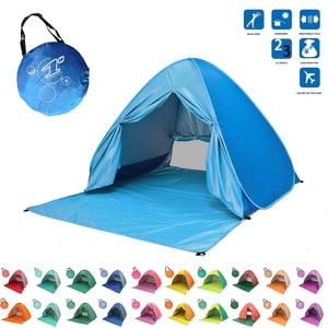 Image 1 - Bãi Biển Lều Bật Lên Tự Động Mở Lều Họ Siêu Nhẹ Gấp Lều Du Lịch Cá Cắm Trại Chống Tia UV Hoàn Toàn Che Ánh Sáng Mặt Trời 2 5 Người