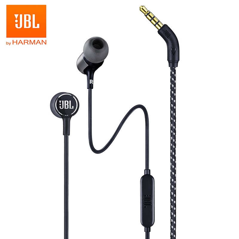 JBL LIVE100 3 5mm Wired Earphones Stereo Sound Line Control Sports Headset  Live 100 Deep Bass Sound Earbuds Handsfree with Mic