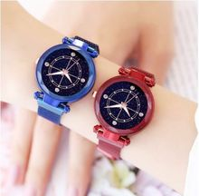 Fashion Watch Women Watch Magnet Watches Rose Gold Starry Sky Watch Luxury Ladies watches Gift Wristwatch Clock reloj mujer(China)