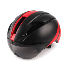 Aero Helmet Race Time-Trial Lens-Casco Ciclismo Women Tt for Goggles with Bicycle