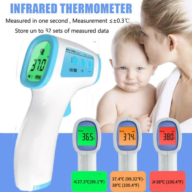 IR Infrared Digital Forehead Fever Thermometer Non-Contact Baby Adult Body UK Medical Infrared Forehead Thermometer