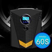 12V Portable Car Air Compressor Pump Digital Tire Inflator Auto For Motorcycle LED Light