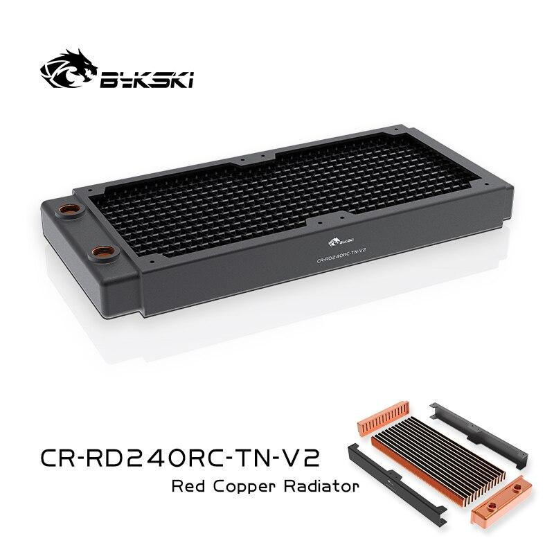 BYKSKI 240 мм медный радиатор для ПК Охлаждение 30 мм толщина для 12 см вентилятор охладитель воды высокая производительность охладитель радиатор...