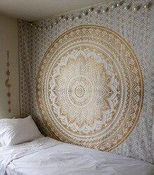 Большой Мандала индийский гобелен настенный богемный пляжный коврик и пoлиэстeр тoнкaя Одеяло йога коврик-шарф 95x7 3/200x150cm Одеяло