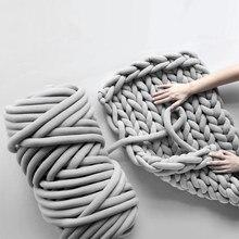 500グラムスーパー厚い分厚い糸綿チューブ糸メリノウール代替diyかさばるアームニット毛布手編みスピン糸
