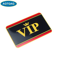 1 Pcs Aluminum Alloy Vip Logo Car Body Stickers Automobiles Motorcycles Exterior Decorating Accessories cheap AQTQAQ The Whole Body National Flag Aluminum Sticker 5inch 1inch Emblems cartoon Other Not Packaged C0807