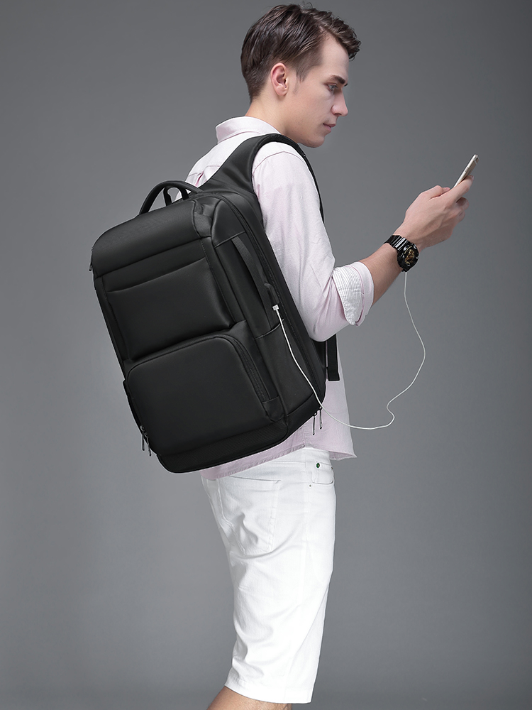 EURCOOL Travel Backpack Mochila-Bags Laptop Usb-Charging-Port Large-Capacity Male Men