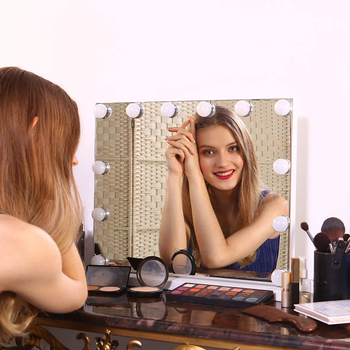 Lampa LED do makijażu USB lampa ścienna Beauty 5V 10W 10 zestaw żarówek do toaletka bezstopniowa ściemniająca lustro kosmetyczne Hollywood tanie i dobre opinie Sckday CN (pochodzenie) Przełącznik N-510010 Wysokiej polimeru