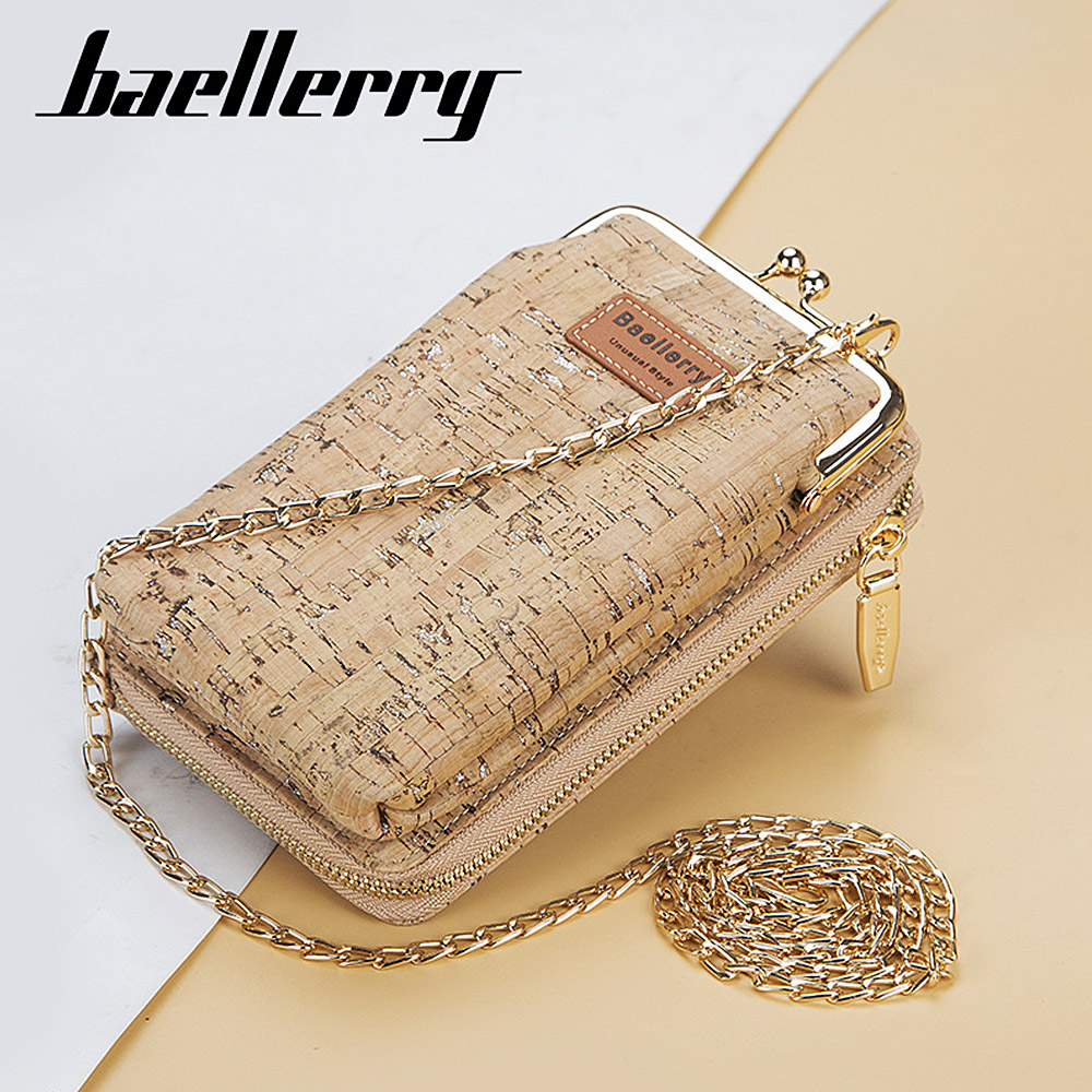 2020 New Fashion Women Wallets Wood Grain Chain Long Top Quality Card Holder Classic Female Purse Zipper Brand Wallet For Women