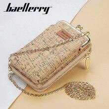 2020 New Fashion Women Wallets Wood Grain Chain Long Top Quality Card Holder Classic Female Purse Zipper Brand Wallet For Women