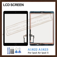 Digitizer Touch-Screen iPad 5-A1822 Dispaly Front-Glass-Panel Home-Button-Replacement