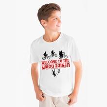 Happy Birthday Kids T Shirt Stranger Things Letter T-shirt Children Summer Short Sleeve Tops Funny Present Unisex