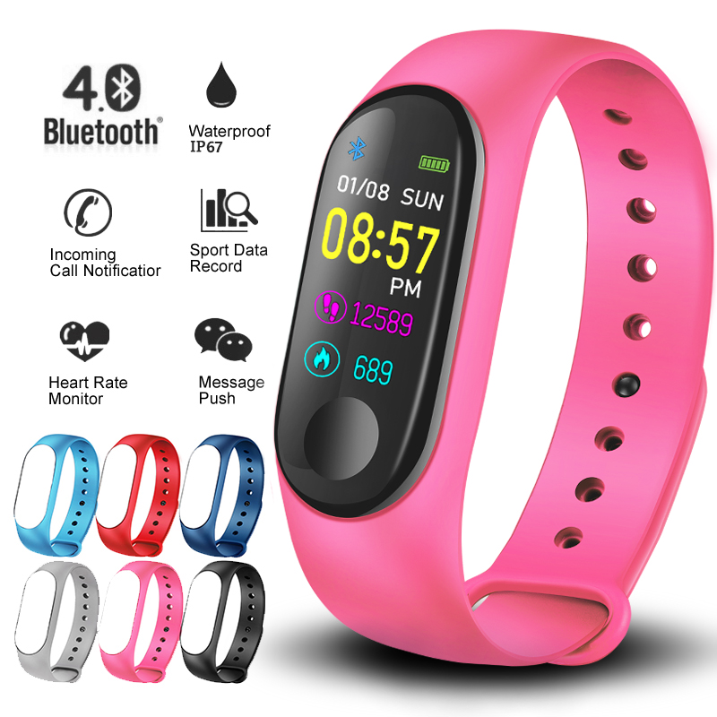 LIGE Smart bracelet Women Sport Waterproof Smart Watch Men Blood Pressure Heart Rate Monitor Smart Wristband Fitness tracker