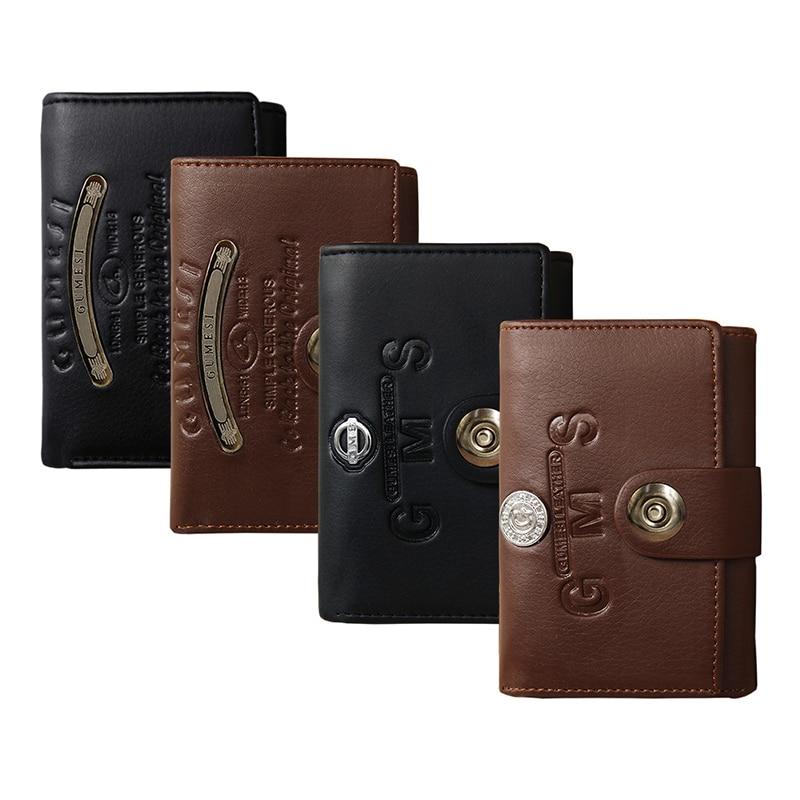 Luxury Slim Wallet Men Wallets Coin Bag Leather Purses Menbense Fashion Short Solid Hasp Purse Card Holder Carteira money bag wallet
