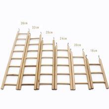 IdealHouse деревянная лестница для скалолазания различных размеров, деревянная игрушка с подвесным крюком для птиц, попугаев