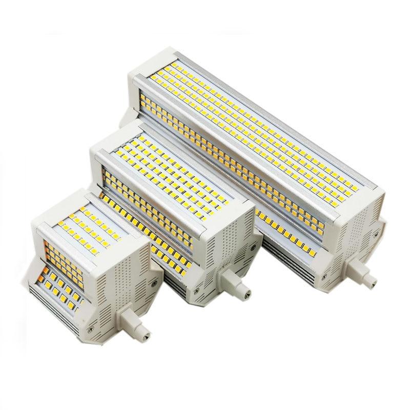 Nieuwe 1 Pcs Dimmer R7S 78Mm 15W 118Mm 50W 189Mm 60W Led Corn Lamp vervangen 150W 500W 1000W Zon Buis Voor Winkelcentra Binnenplaatsen