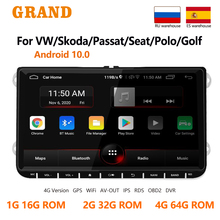GRAND 2 Din Android Auto Radio Für VW Volkswagen Golf Touran Skoda Octavia Yeti GPS Navigation Multimedia Player 2din Autoradio Head Unit