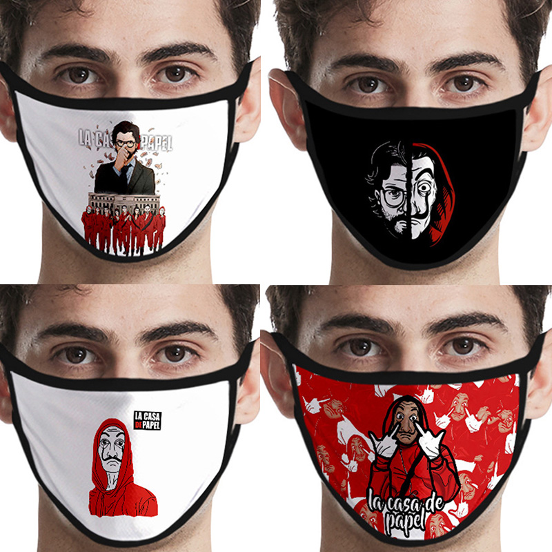 Movie The House Of Paper La Casa De Papel Mask Cosplay Costume Accessories Money Heist Salvador Dali Face Masks