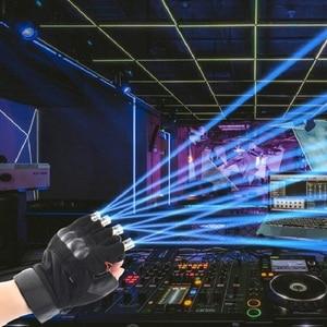 Image 5 - Czerwony zielony fioletowy laserowe rękawice scena taneczna rękawice laserowe światło dłoni dla klubu DJ/Party/bary etap światło palec osobiste rekwizyty