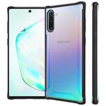For Samsung Galaxy Note 10 Case Transparent Hybrid TPU+PC Anti-Scratch Clear Shockproof Armor Case For Samsung Note 10 Plus Case toiko chiron clear case for samsung galaxy note 10 shockproof protection bumper shell note 10 plus pro hybrid pc tpu back covers