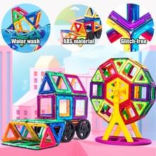 Magnetic Designer Building-Blocks Educational-Toys Children Big-Size 180pcs