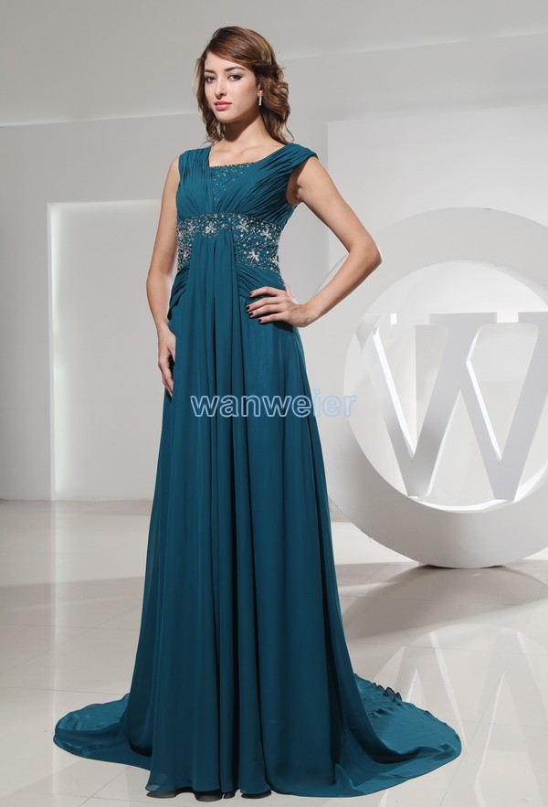 Free Shipping 2015 New Crystal Beading Maxi Dress Long Bottle Green For Women Unique Classy Mother Of The Bride Chiffon Desses