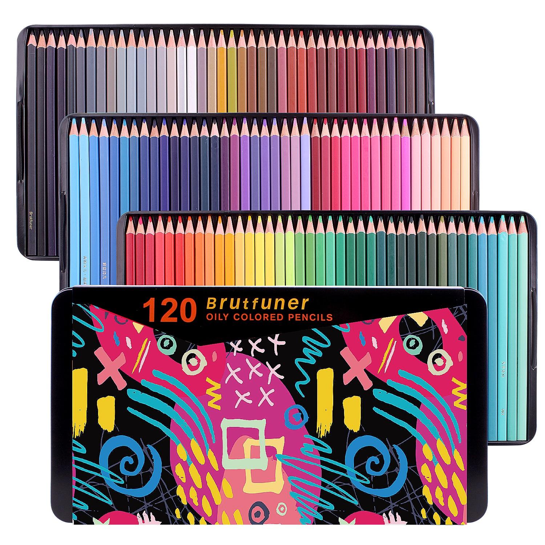 Цветные карандаши 72/120/180 премиум-класса для взрослых художников, идеально подходят для раскрашивания книг, рисования, скетчей, растушевки, х...