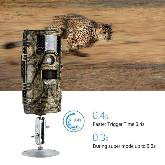 BOBLOV CT006 Trail Camera 20MP 1080p 30fps Scouting Night Vision Trail Hunting Camera CamWildcamera Wild Surveillance Wildlife 3
