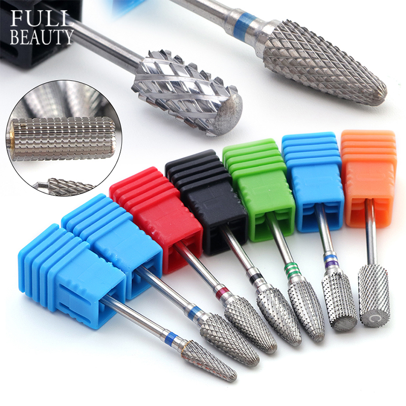 21type Tungsten Carbide Manicure Cutter Nail Drill Bits For Electric Machine Rotary Milling Cutters Nail Files Remover CH01-21
