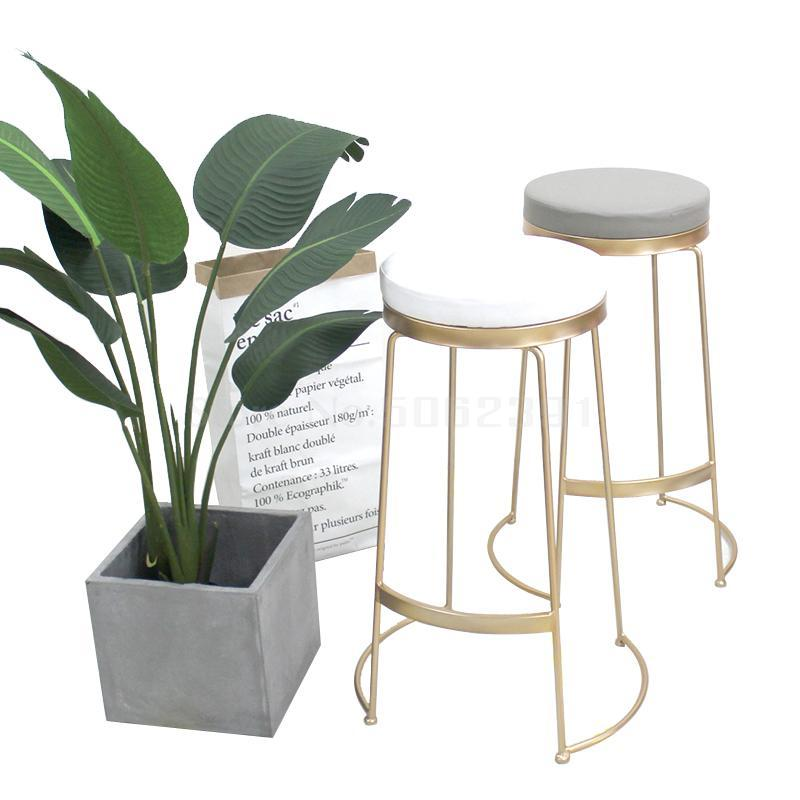 Nordic Ins Wind Bar Stool Modern Simple Net Black Milk Tea Dessert Shop Cafe Bar Front Desk High Chair