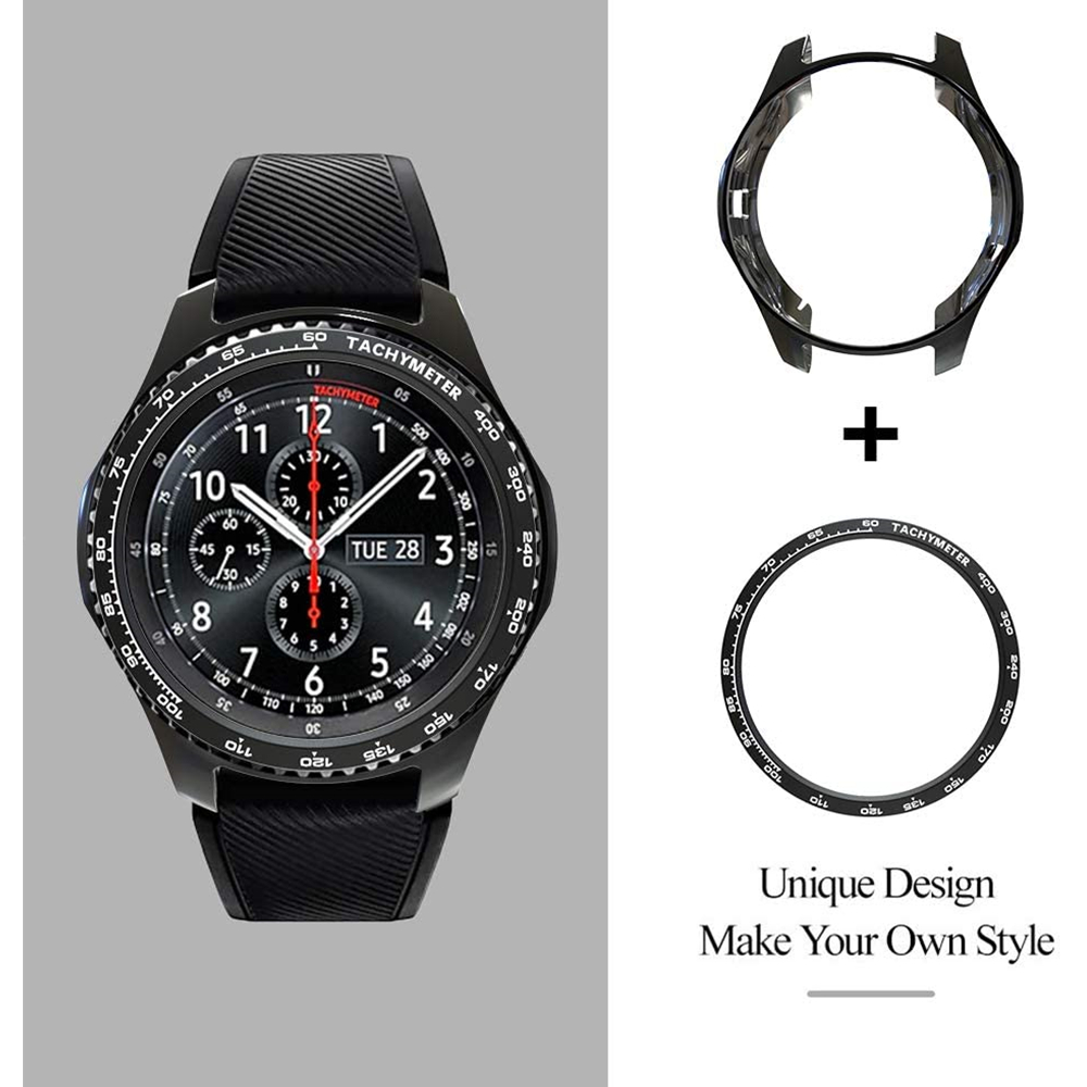 Gear S3 Frontier Bezel Ring + case for Samsung Galaxy <font><b>watch</b></font> <font><b>42mm</b></font> 46mm <font><b>huawei</b></font> <font><b>watch</b></font> <font><b>gt</b></font> <font><b>2</b></font> 46mm Cover Protector Bezel Loop + Case image