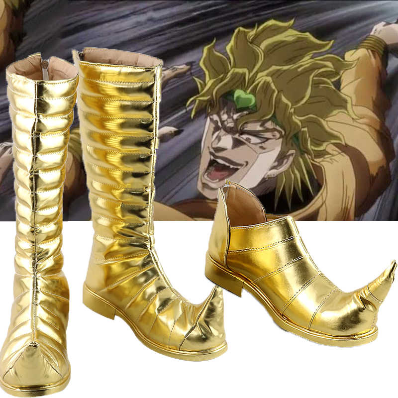 Custom-Made JoJo/'s Bizarre Adventure Boots DIO BRANDO Party Shoes Cosplay Boots