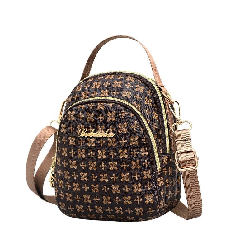 Bags for Women 2020 Mini Leather Handbag Flower Print Crossbody Shoulder Bag Louis Luxury Designer Clutch Messenger Bags