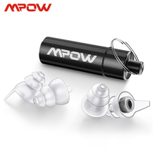Mpow HP096 2 paia tappi per le orecchie ad alta fedeltà SNR 28dB/ NRR 24dB tappi per le orecchie per concerti musicali con riduzione del rumore con custodia per Festival