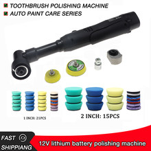 Bateria de lítio 12v micro-moagem e rotação micro ro/da polidor de carro de dupla ação, moagem fina e limpeza