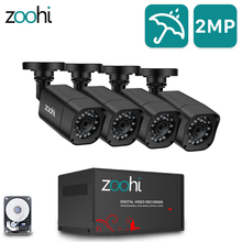 Zoohi AHD sistema de cámaras CCTV para exteriores, cámara de seguridad 1080P, Kit DVR, CCTV, impermeable, sistema de videovigilancia para el hogar HDD P2P HDMI