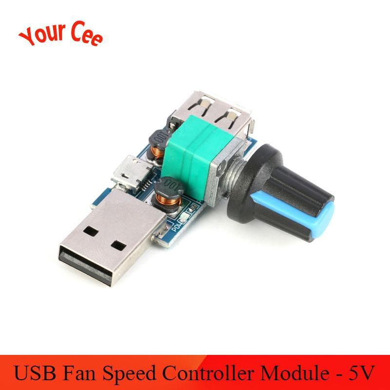 <font><b>USB</b></font> <font><b>Fan</b></font> <font><b>Speed</b></font> <font><b>Controller</b></font> Module <font><b>DC</b></font> <font><b>5V</b></font> <font><b>Wind</b></font> <font><b>Speed</b></font> Variable Regulator Switch Module Multi-gear Stepless Air Volume <font><b>Governor</b></font> DIY image