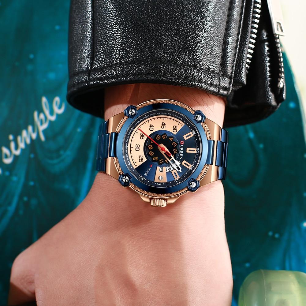 Image 5 - CURREN Design Watches Mens Watch Quartz Clock Male Fashion Stainless Steel Wristwatch with Auto Date Causal Business New WatchQuartz Watches   -