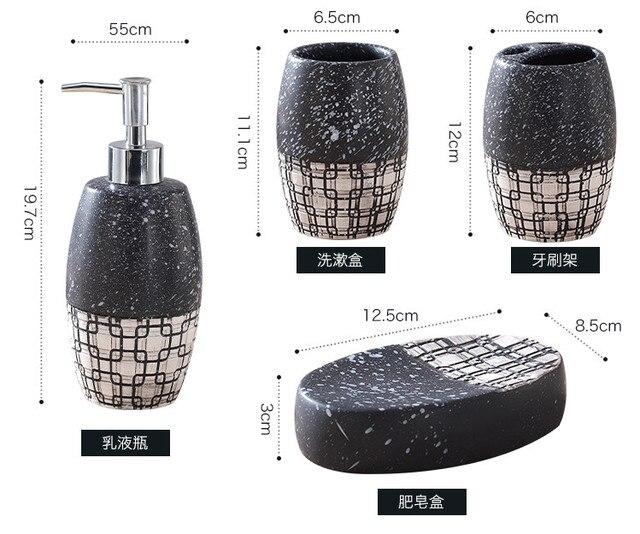 Набор для ванной комнаты керамическая эмульсионная бутылка из