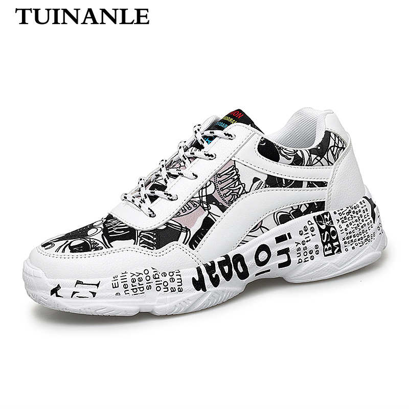 TUINANLE Winter Woman Casual Shoes White Sneakers Flat Bottom Ladies Vulcanized Shoes Lovers Shoes Size 35-43 Zapatos Mujer