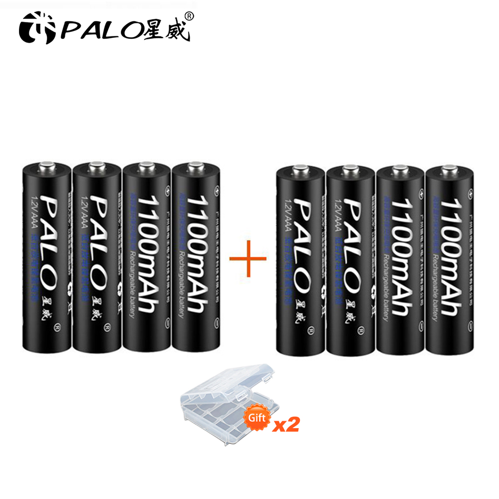 Rechargeable Battery Cell Set 3A AAA Rechargeable AAA 1100mAh 1.2V PALO NI-MH 3A Battery Baterias Bateria For LED Light Toy Mp3