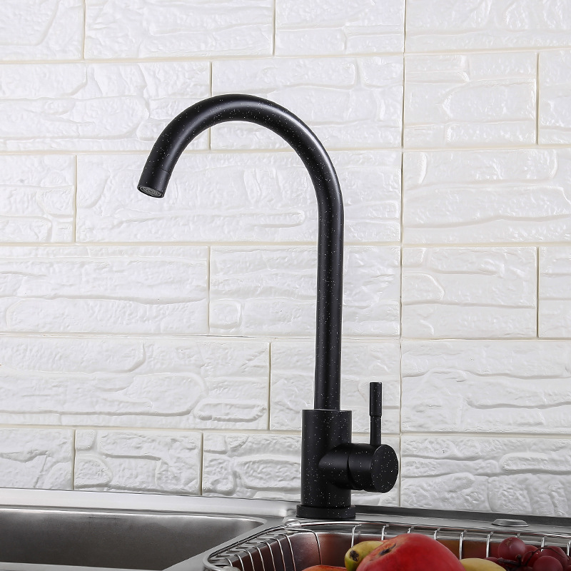 Black And White With Pattern Paint Spraying Kitchen Faucet 304 Stainless Steel Cold Kitchen Sink Mixing Valve Australia Paleo Ma