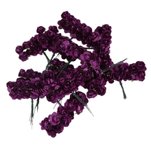 144 шт мини маленькая бумага искусственные розы цветы с бутонами DIY ремесло свадебный Декор для дома
