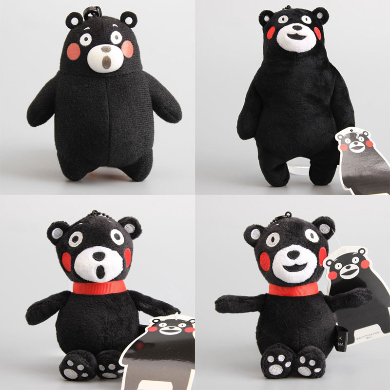 9-17cm Teddy Bear Kumamon Bear Plush Stuffed Animals Toys Cute Black Bear Doll Peluche Pillow Women Kids Christmas Birthday Gift