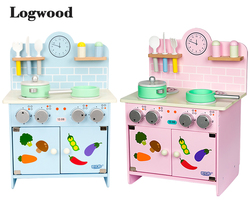 Деревянный большого размера плита ребенок Забавный классический ролевые игры кухонные игрушки имитировать кухонные наборы приготовления ...